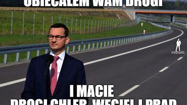 Przed 2015 nie budowano w Polsce dróg, a Ziemia jest płaska