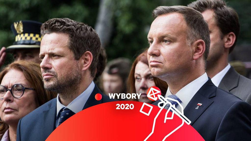 Rafał Trzaskowski i prezydent Andrzej Duda
