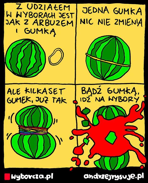 Andrzej Rysuje | ARBUZ - Andrzej Rysuje | 23 czerwca 2020 <a href=https://wyborcza.pl/andrzejrysuje/0,0.html#TRNavSST>Inne rysunki</a> -