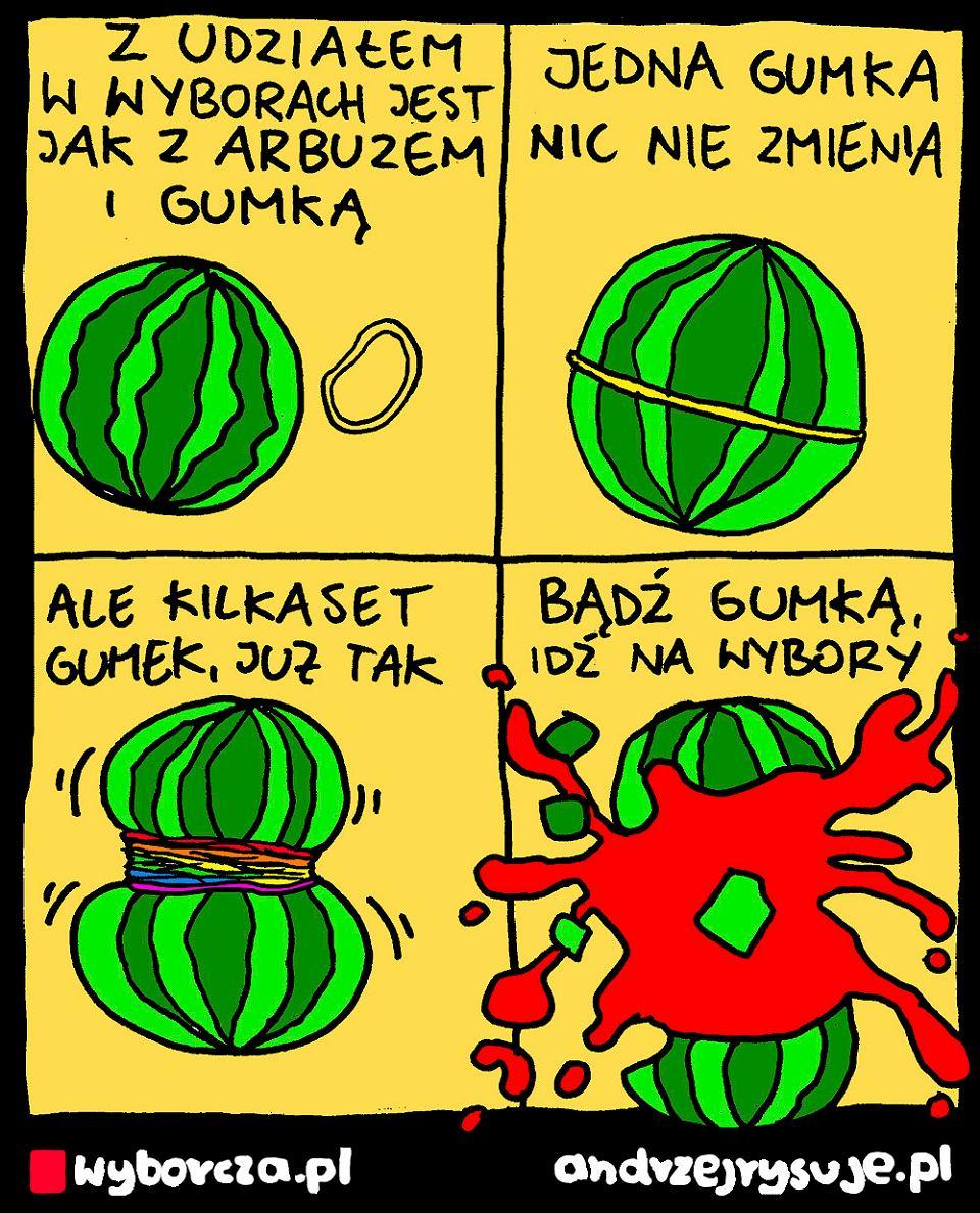 Andrzej Rysuje   ARBUZ - Andrzej Rysuje   23 czerwca 2020 <a href=https://wyborcza.pl/andrzejrysuje/0,0.html#TRNavSST>Inne rysunki</a> - null