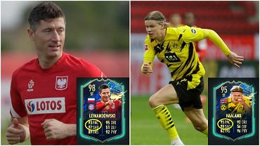 Erling Haaland lepszy od Roberta Lewandowskiego w głosowaniu na piłkarza sezonu Bundesligi. Porównanie kart zawodników w Drużynie Sezonu Bundesligi z gry FIFA 21 i trybu Ultimate Team