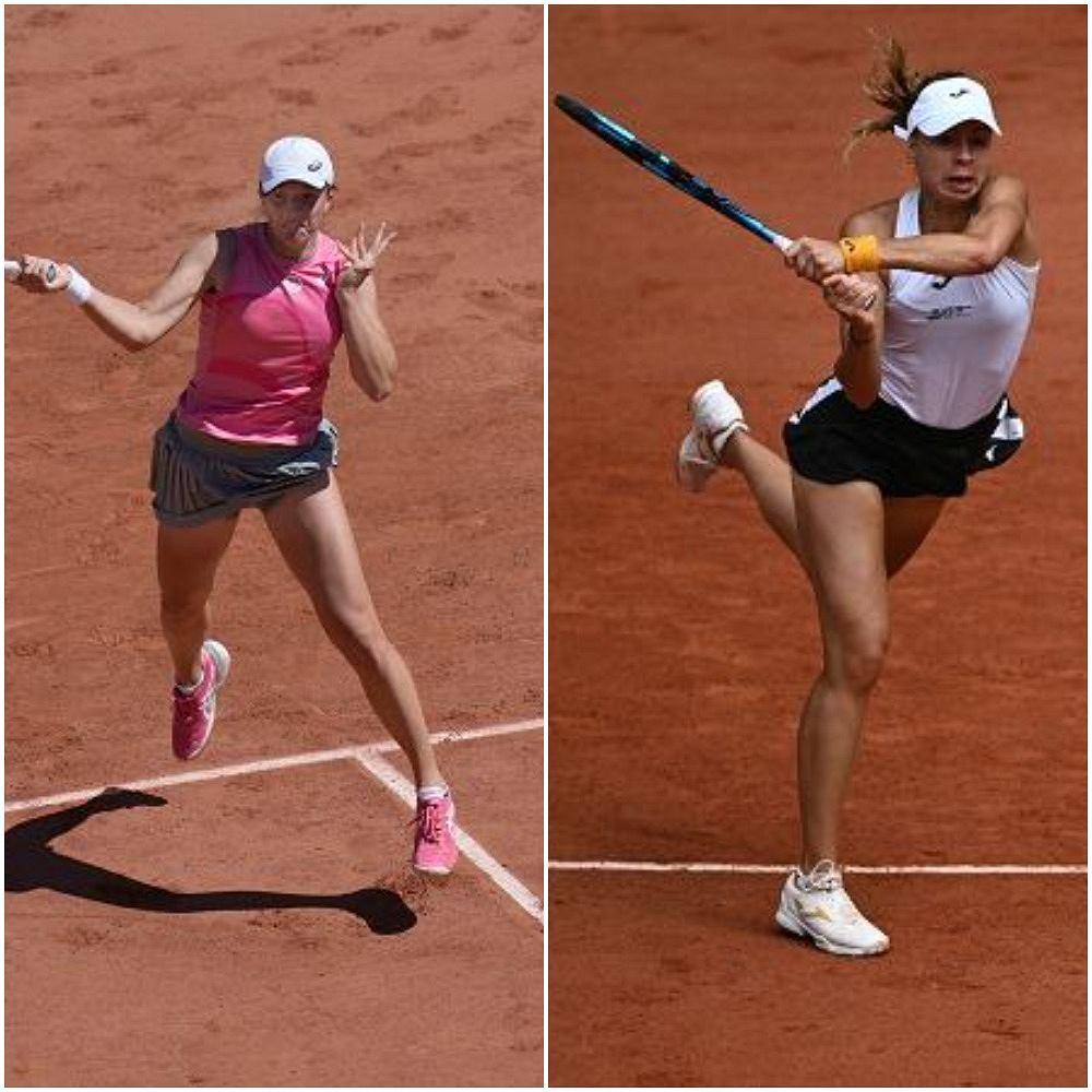 Iga Świątek i Magda Linette, Roland Garros 2021