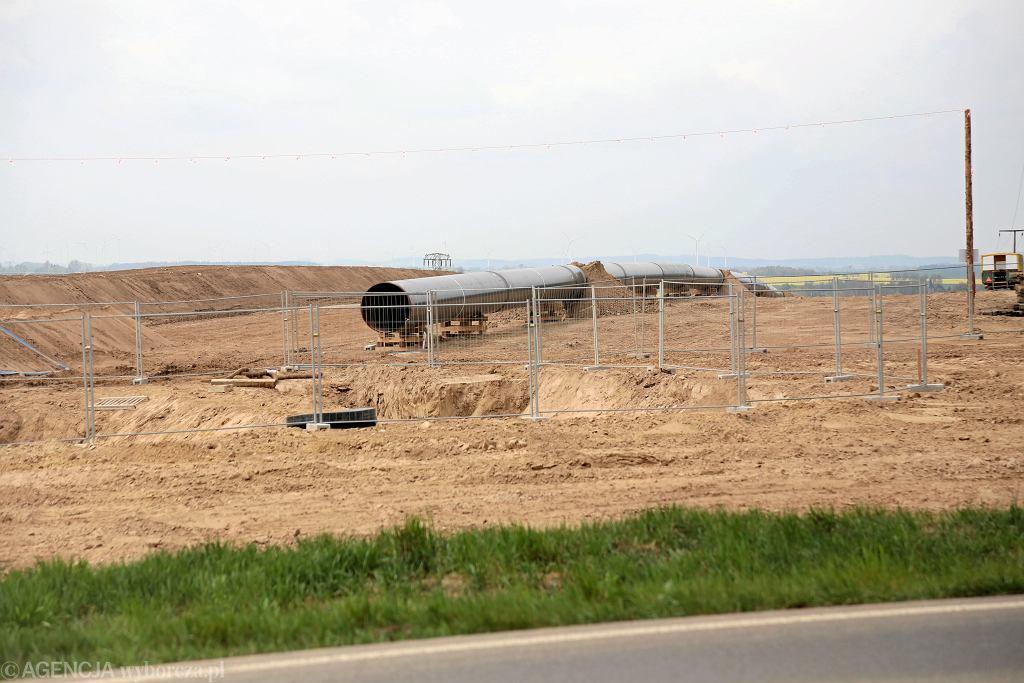 Niemcy, Pasewalk . Budowa gazociagu EUGAL - lądowego przedłużenia gazociągu Nord Stream 2 .