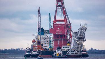 Budowa gazociągu Nord Stream 2, zdjęcie ze stycznia 2021 r.