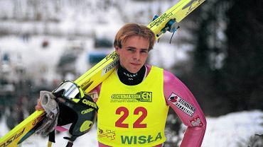 Robert Mateja w stylowym kombinezonie. Rok 1997
