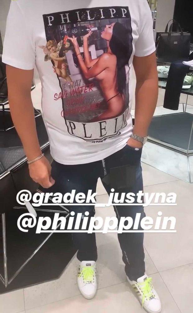 koszulka Philippa Pleina z Justyną Gradek