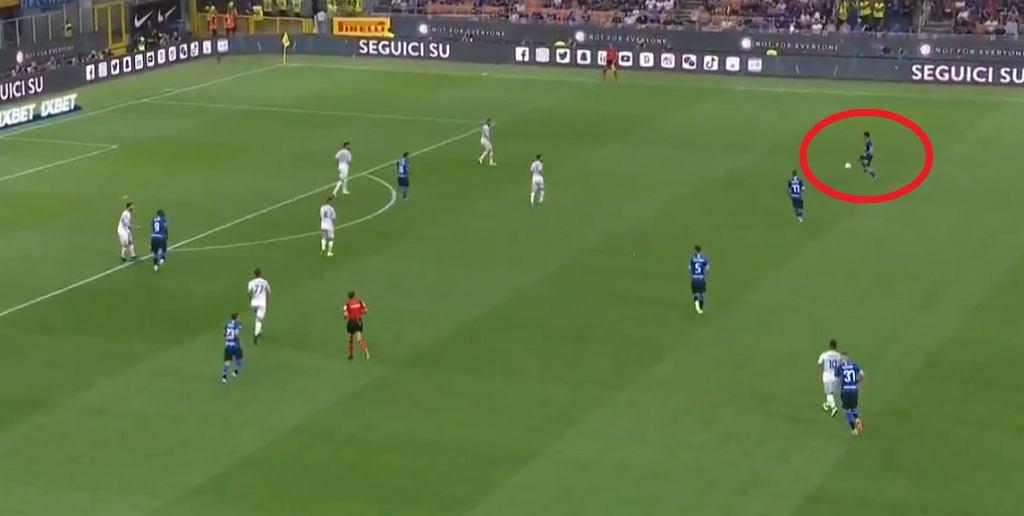 Kapitalny gol Antonio Candrevy w meczu Inter Mediolan - Lecce