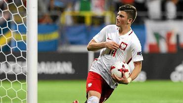 Dawid Kownacki golem i asystą dał nadzieje Polakom na awans do półfinału Euro U-21
