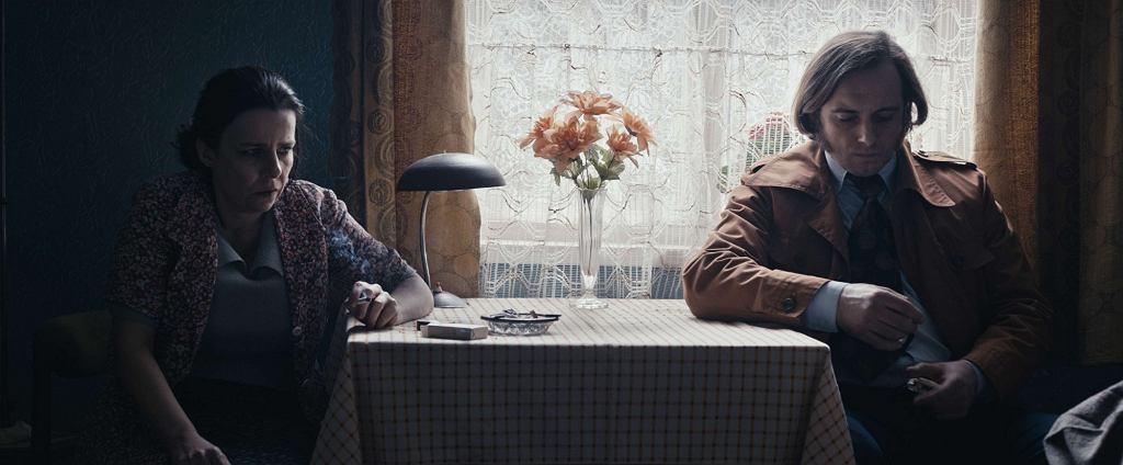 Agata Kulesza i Michał Żurawski na planie filmu