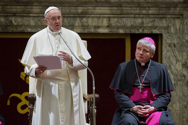 Papież Franciszek i kard. Konrad Krajewski