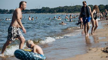Bałtyk, plaża w Gdańsku