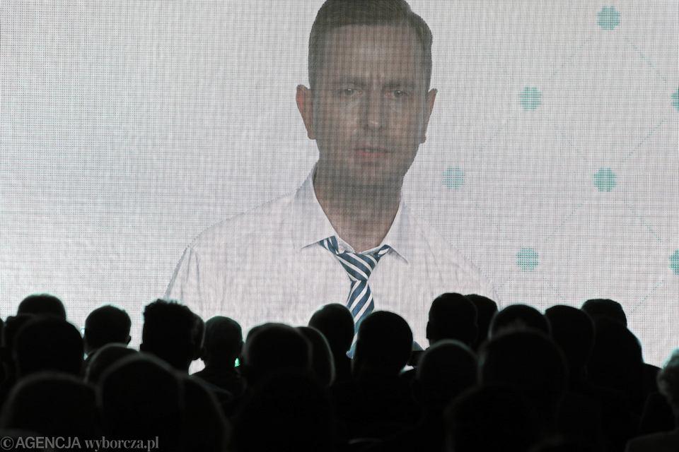Prezes PSL Władysław Kosiniak-Kamysz podczas podczas Konwencji Wyborczej Polskiego Stronnictwa Ludowego. Warszawa, 9 września 2018