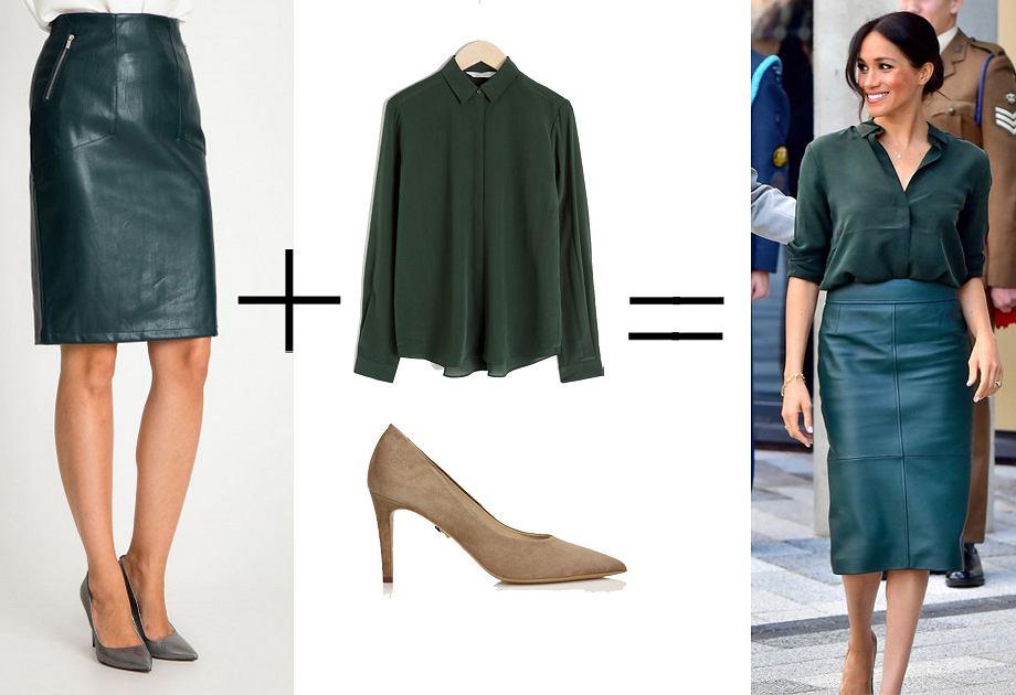 Spódnica skórzana Quiosque przypomina model, który miała na sobie Meghan Markle
