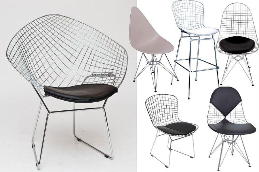 Najpopularniejsze modele drucianych krzeseł