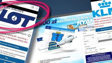Uwaga na fałszywą promocję Lot, Ryanair i KLM