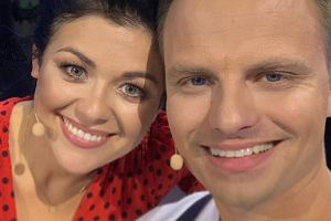Kasia Cichoek i Marcin Hakiel na planie programu 'Czar par'