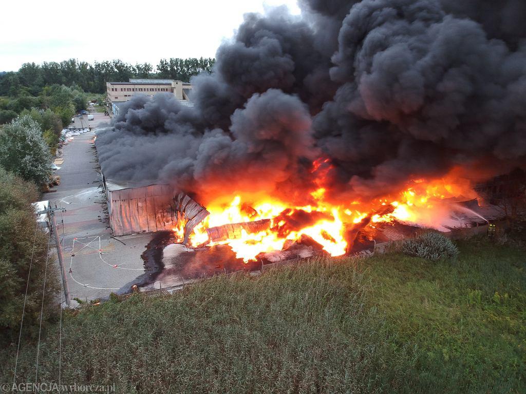 Pożar w Konstancinie