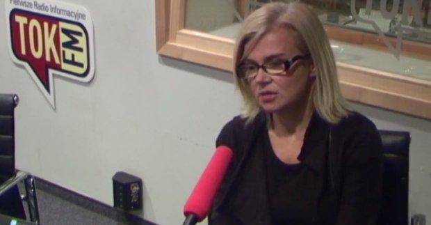 Joanna Staniszkis w studiu radia TOK FM