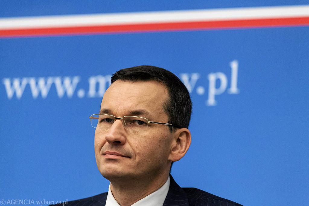 Wicepremier, minister finansów Mateusz Morawiecki