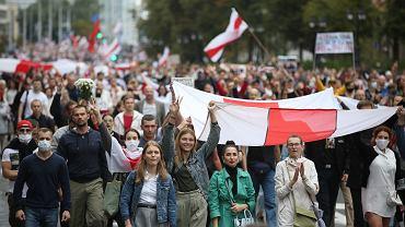 Protesty na Białorusi.