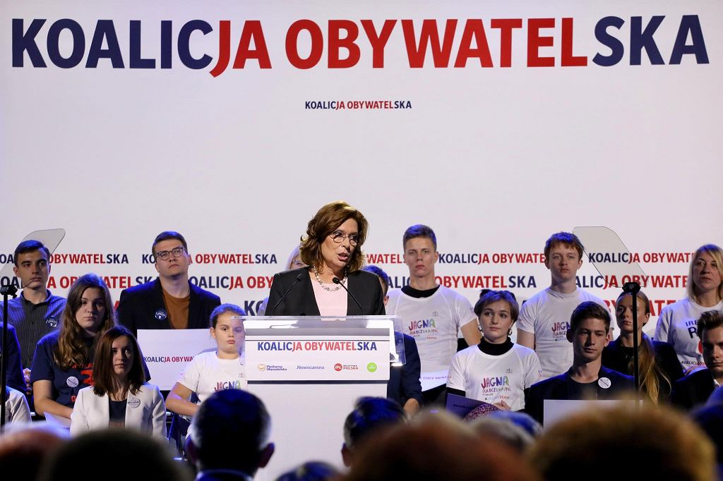 Małgorzata Kidawa-Błońska podczas konwencji w Krakowie