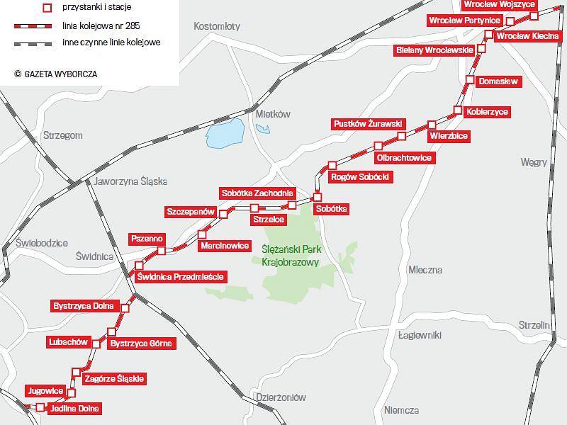 Pociagi Pojada Z Wroclawia Pod Sleze Mapa