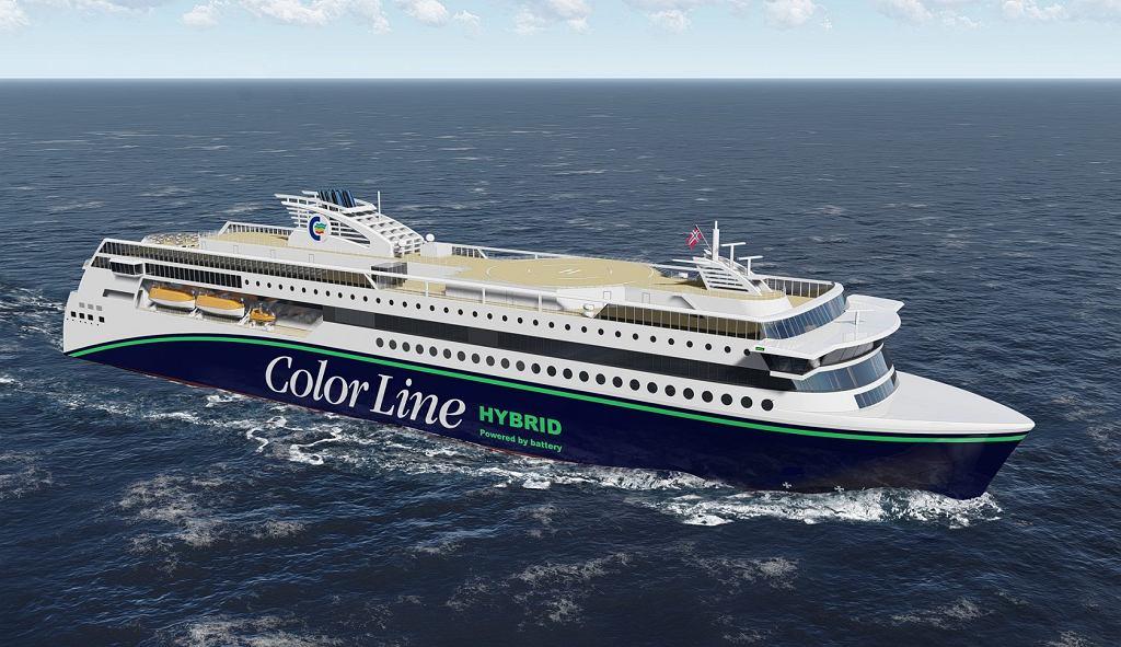Color Hybrid - największy hybrydowy prom świata, który w dużej części powstaje w Gdyńskiej stoczni Crist