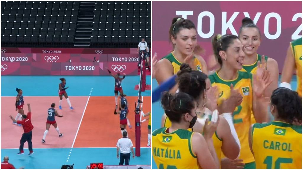 Dominikana - Brazylia, siatkówka, IO Tokio