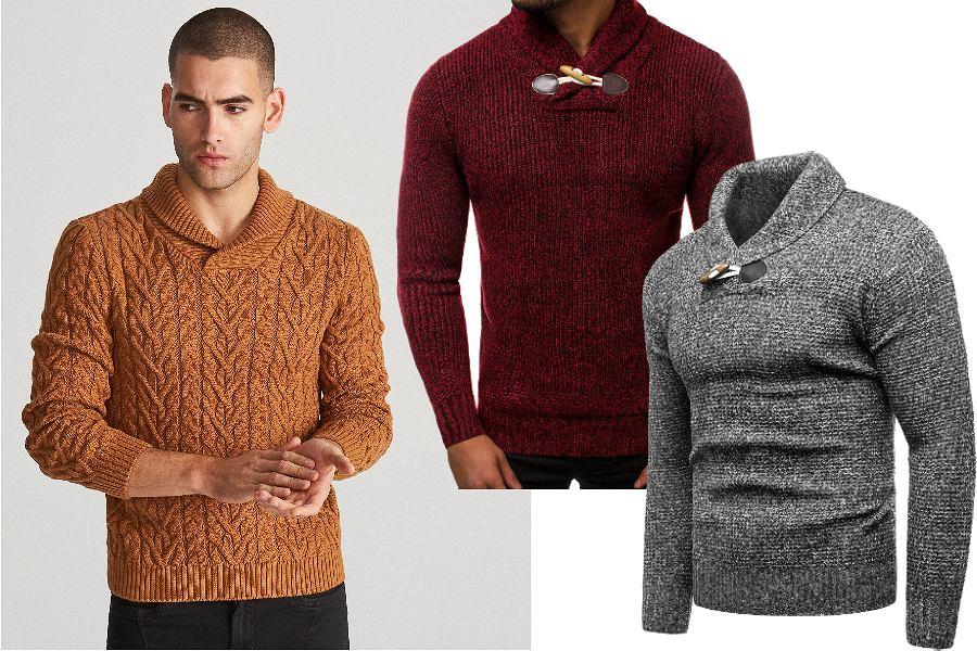 Sweter męski ze stójką