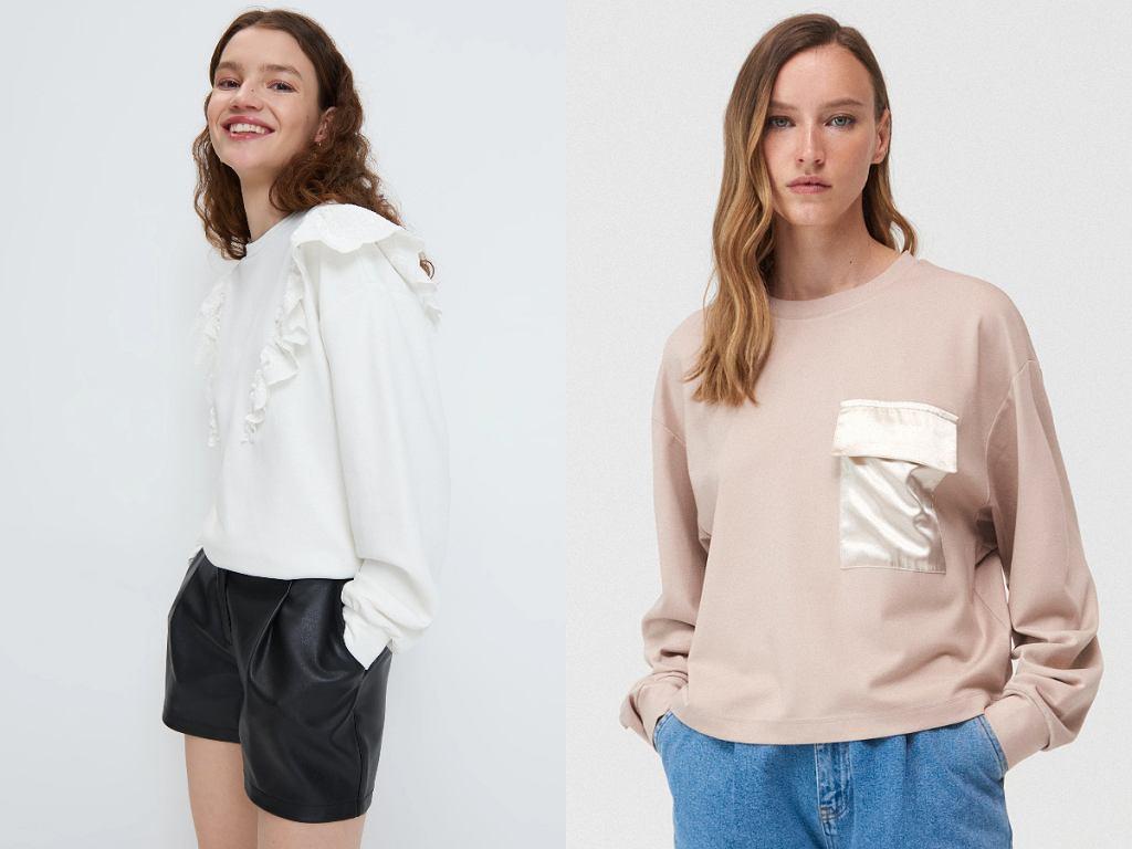 Białe i beżowe bluzy z wyprzedaży