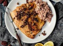 Pstrąg z orzechami pekan i mięsem kraba - ugotuj