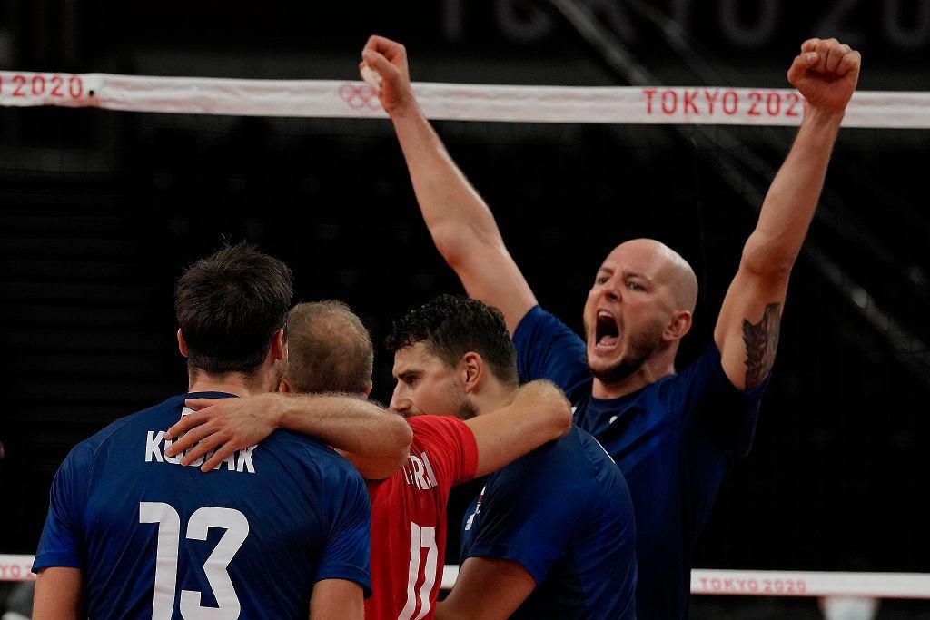 Tokio 2020. Polska - Kanada 3:0. Bartosz Kurek fetuje zdobyty punkt
