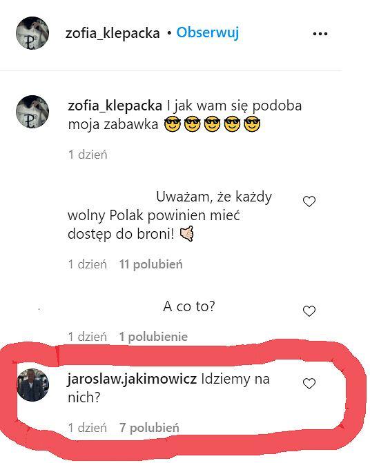 Komentarz Jakimowicza u Zofii Klepackiej