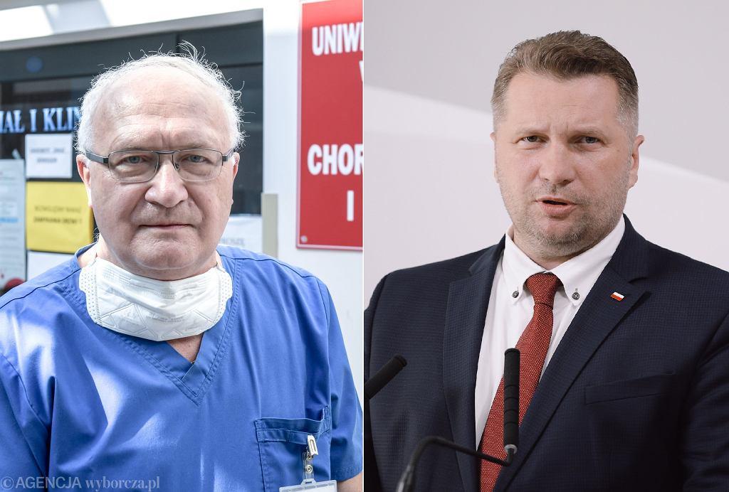 Prof. Krzysztof Simon i Przemysław Czarnek