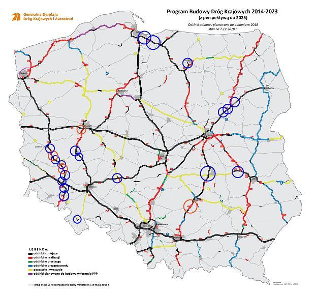 Mapa dróg oddawanych w tym roku