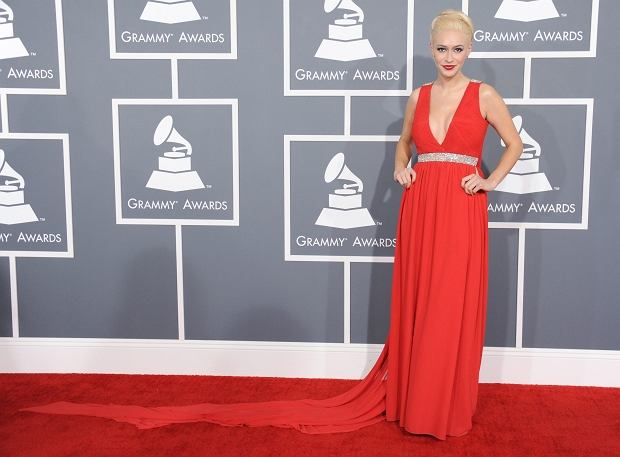 Kaya Jones arrives at the 55th annual Grammy Awards on Sunday, Feb. 10, 2013, in Los Angeles.  (Photo by Jordan Strauss/Invision/AP)