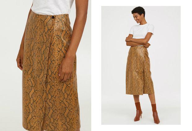 Skórzana spódnica H&M wyprzedaż - 499 zł