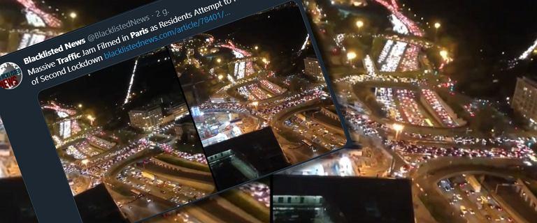 Paryżanie uciekali z miasta. Największe korki w historii przed lockdownem