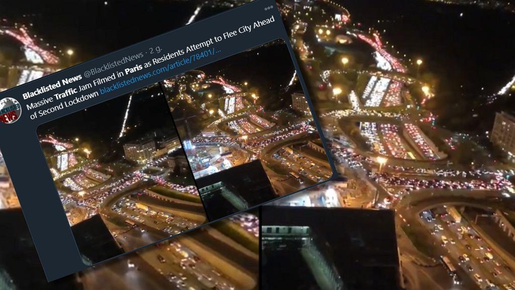 Rekordowo duże korki w Paryżu