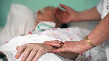 Pacjent w białostockim hospicjum