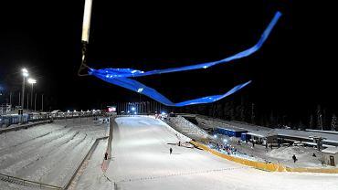 Ruka pod Kuusamo. Silny wiatr uniemożliwił rozegranie konkursu skoków