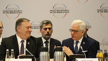 Konferencja Bliskowschodnia. Mike Pompeo i Jacek Czaputowicz