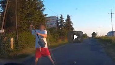 Kadr z filmu nagranego przez wideorejestrator