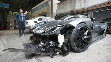 Koenigsegg Agera R rozbity przez pijanego kierowcę