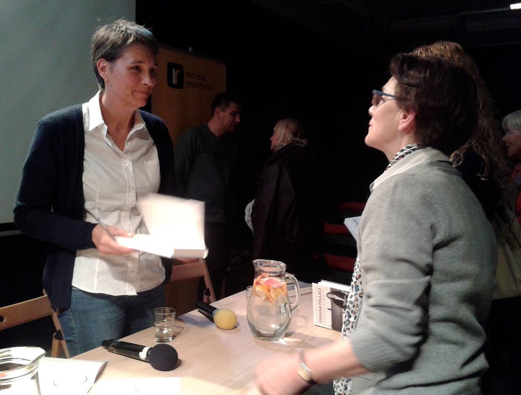 Cristina de Stefano na spotkaniu z polskimi czytelnikami, fot. Katarzyna Szczerbowska