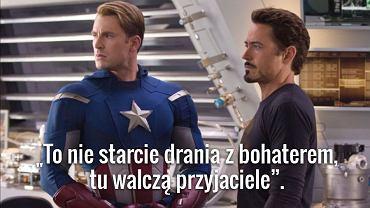 "Kapitan Ameryka i Iron Man - kadr z ""Avengers"""