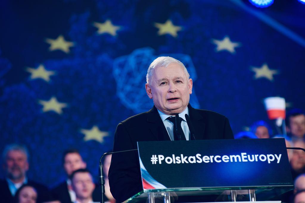 Konwencja PiS we Wrocławiu. Na zdjęciu Jarosław Kaczyński
