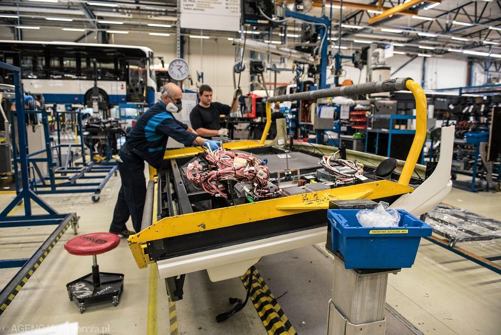 Na zdjęciu linia produkcyjna we wrocławskiej fabryce Volvo Buses