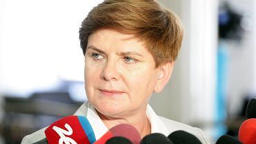 Poslanka PiS Beata Szydlo - kandydatka na premiera