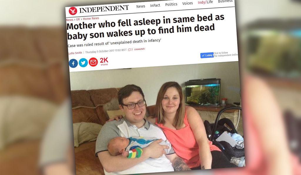 Rodzice ze zmęczenia zasnęli razem z niemowlakiem. Gdy się obudzili, dziecko już nie oddychało